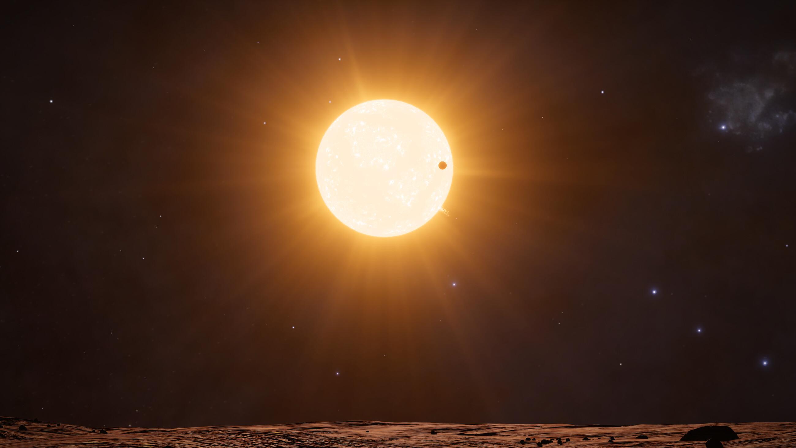 Transito de un planeta frente a la estrella